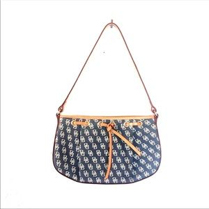 Dooney & Bourke Denim & Leather Signature Monogram